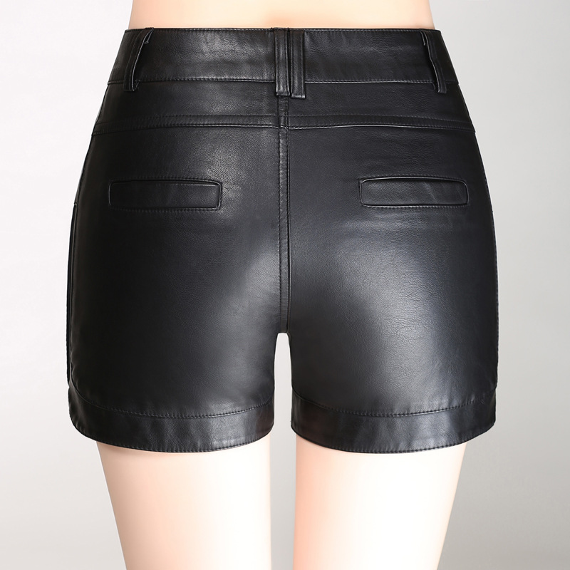 Shuchan Korean Shorts For Women Plus Size High Waist Short Pants With Pockets Pu Leather Short Feminino Autumn Winter 2018 323 in Shorts from Women 39 s Clothing