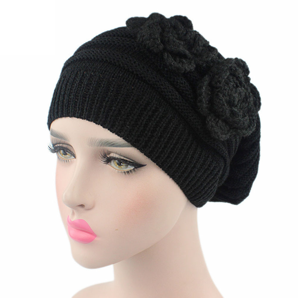 Women s winter hats Ladies Knitting Cancer Hat Beanie Turban Head Wrap Cap  Pile Cap Bone feminino cd7461bc67c