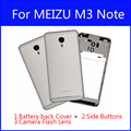 Original Housing 5.5 inch For MEIZU M3 Note Battery Back Cover Door Rear Case Replacement With Logo Antenna + Camera Flash Lens