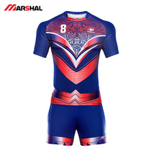 Wholesale mens women sublimated custom design your own logo long sleeve rugby league jersey