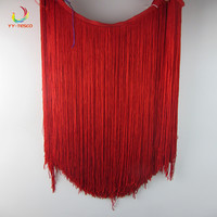 50cm/long Tassel Fringe Trimming Lace Ribbon Dance Latin Dress Macrame Samba Clothing DIY Lace Single Band decoration red