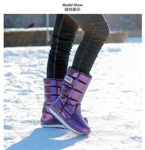 Image 3 - ผู้หญิงรองเท้ากันน้ำฤดูหนาวรองเท้าผู้หญิงแพลตฟอร์มSnow Boots Keep Warmกลางฤดูหนาวหนาขนสัตว์ส้นbotas Mujer