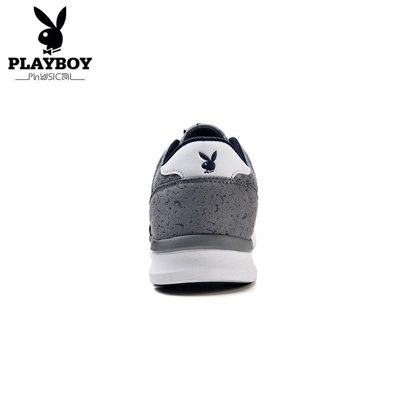 Casuais Da73063 cinza Malha 100 2017 Brand Marinho Playboy Luz Alta Preto Arrival azul De Dos Sapatas Casuais Qualidade Homens New Sapatos UaU67fqw