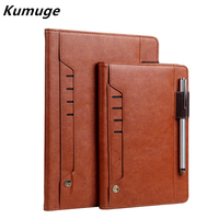 For New IPad 9 7 Luxury Vintage Business Flip Tablet Stand Card Smart Cover Case For