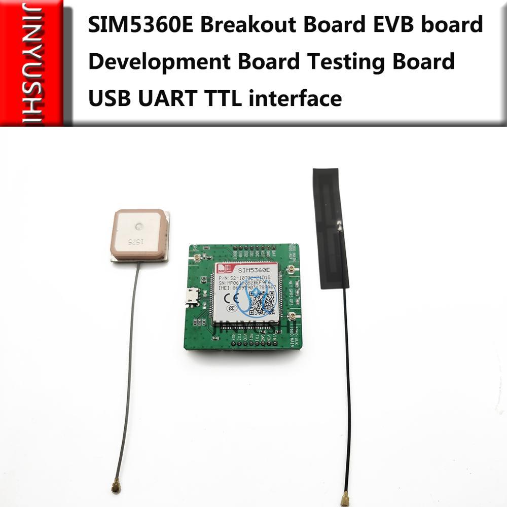 SIMCOM SIM5360E Breakout Board EVB Board Development Board Testing Board With 4G Antenna+GPS Antenna USB UART TTL Interface