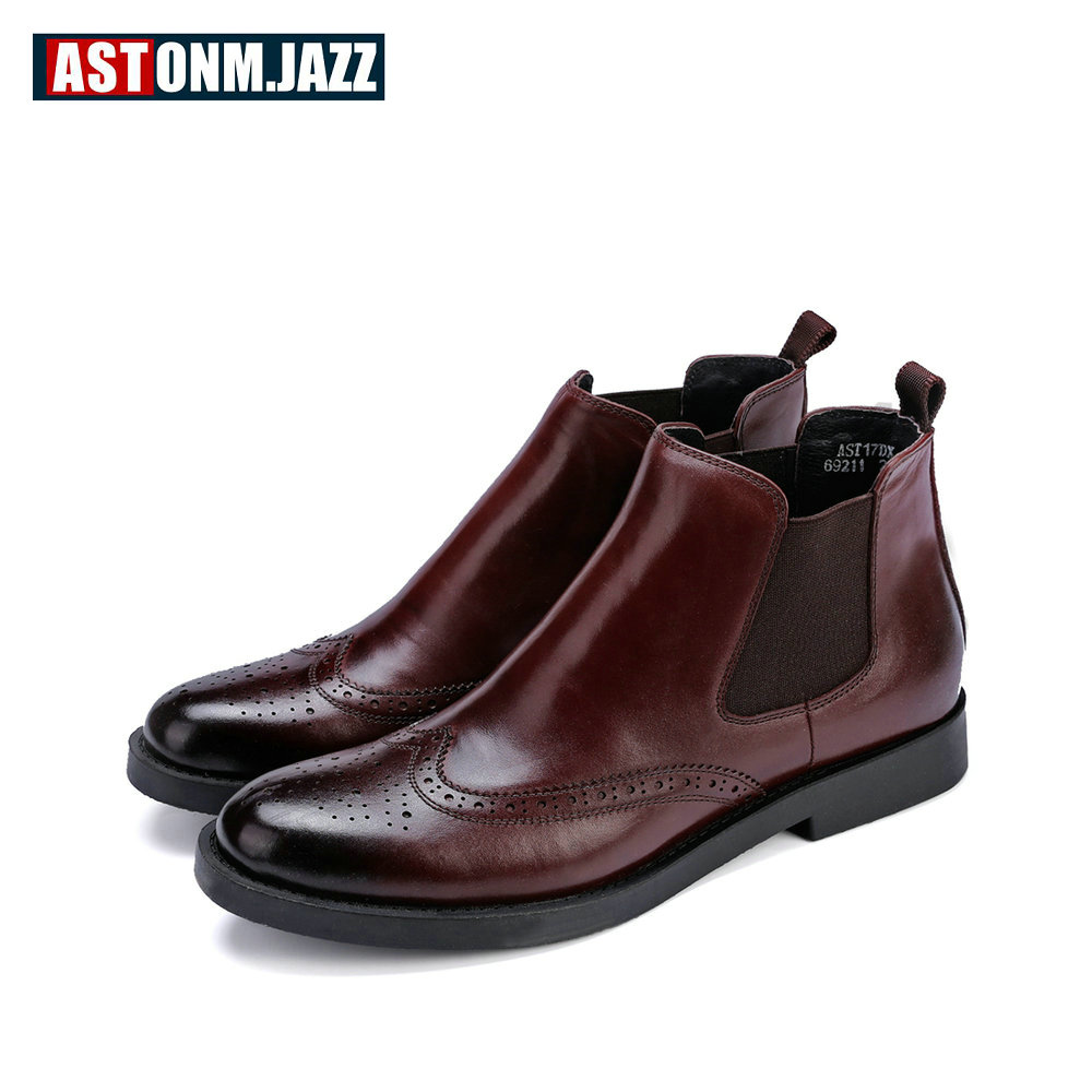 Recommend !! Big Size 45 46 Must Have Mens Brogue Shoes Carved Man Boots Round Toe Martin Boots Winter Shoes