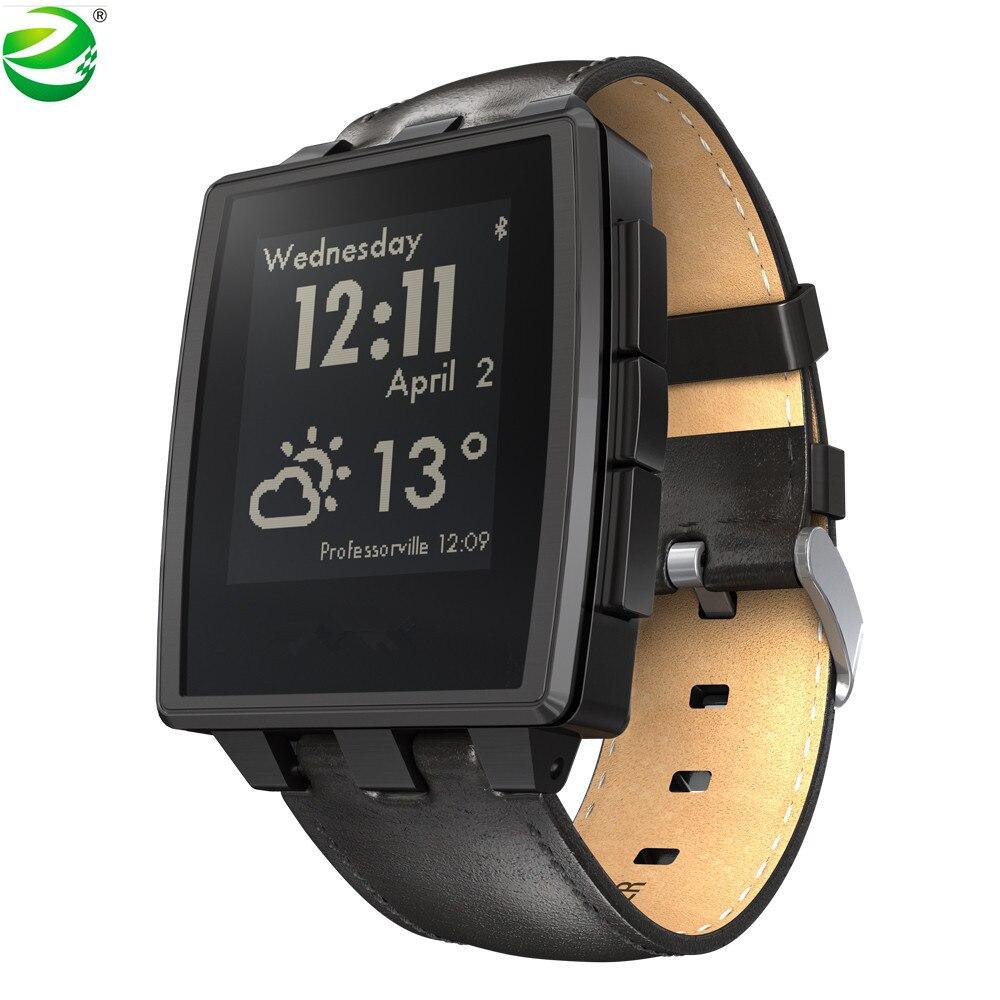 ZycBeautiful לפבל פלדה רב פונקציות חכם שעון לפבל ספורט שעון 5-ATM עמיד למים חכם שעון