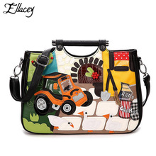 2016 Women Tote Bag European and American Retro Fashion Handbags Italy Classic Stitching Patchwork Female Shoulder Retro bag