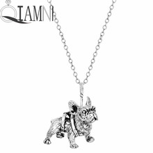 French Bulldog Animal Dog Chain Necklace