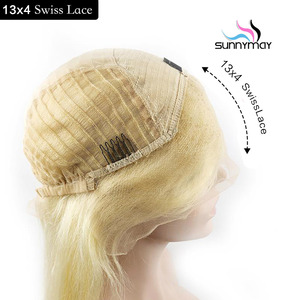 Image 2 - Sunnymay 613 13x4 13x6 Lace Front Wig With Baby Hair Pre Plucked Blonde Wig Remy Hair Glueless Lace Wig Bleached Knots For Women
