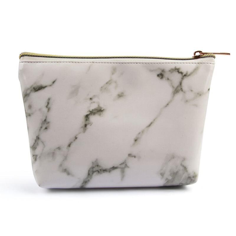 Marble Printing Fashion Women Organizer Case Totes Girls 2019 Coin Purse Cute Storage PU Zipper Coin Bag Cosmetic Makeup Bags