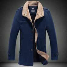 2016 männer im herbst und winter mode kragen lamb tuch material jacken/Männer warm zu halten kragen Große yards freizeit trenchcoat
