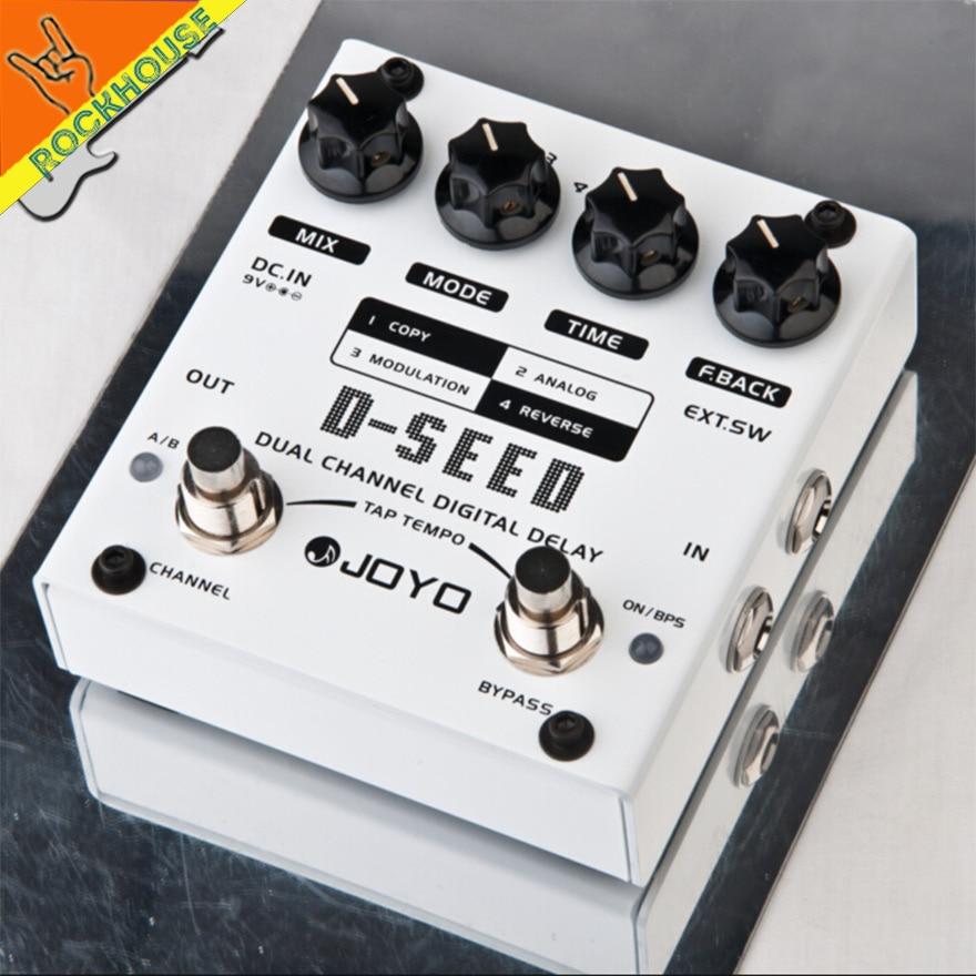 цена JOYO D-SEED Dual Channel Digital Delay Guitar Effects Pedal Analog Delay Effects Guitarra Stompbox True Bypass Free Shipping онлайн в 2017 году