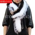 2017 зима новый женщин способа высокого качества Финской чернобурки мех белый лисий мех фиолетовый синий рекс кролика шарф шаль