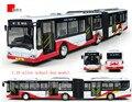 Новый детские игрушки электрический школьный автобус 1:10 модели сплава автомобиля сплава двойной с кондиционером автобусы