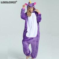 LAISIDANTON New Rainbow Unicorn Pajamas Sets Flannel Nightie Adult Pijama De Unicornio Cosplay Costume Pajamas Sleepwear