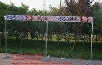 Регулируемый 3*6 м квадратный двойной трубы перекладину свадебной окантовкой frame, трубы и драпировка свадебная АРКА, хупы, фон стенд