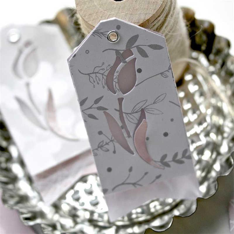 منتجات جديدة لعام 2019 ، قطع توليب من CH ، قطع معدنية ، زخرفة وقصاصات القصاصات الاستنسل ، قطع يدوية يدوية الصنع للبطاقات إصنعها بنفسك