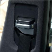 Хромированный автомобильный ремень безопасности украшения крышка Tirm для Mercedes Benz B200, CLA, glа класс W117 200 автомобильные аксессуары 2 шт./компл.