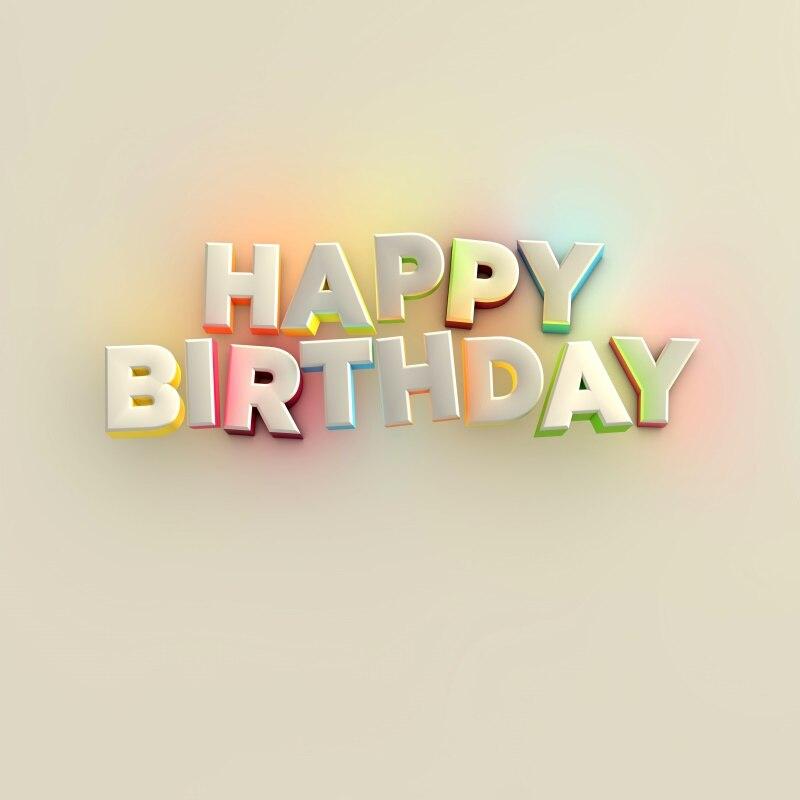 Birthday Photography Lighting: Laeacco Happy Birthday Baby Letters Child Light Scene