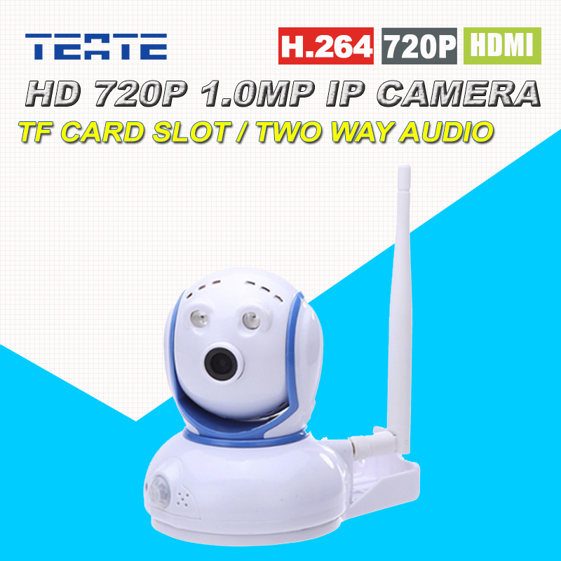 720P 1.0MP HD Mini IP Camera Wireless Wifi Two Way Audio Motion Detection Alarm with TF Card Slot Pan / Tilt for Baby Monitor escam wifi alarm system 433mhz 1527 motion detection ip camera hd 720p
