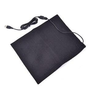 Image 4 - เส้นใย USB เครื่องทำความร้อนคาร์บอนไฟฟ้าแจ็คเก็ตเบาะนุ่มฤดูหนาวเสื้อกั๊กผู้ชายความร้อนเสื้อผ้าอุ่นแผ่นอุ่นสำหรับแผ่น pad