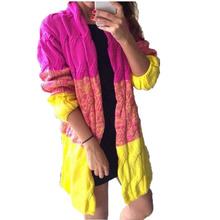 Fashion Autumn&Winter Knitted Crochet Sweater for Women Long Twisted cardigan Open stitch  Full sleeve  female sweaters QA614