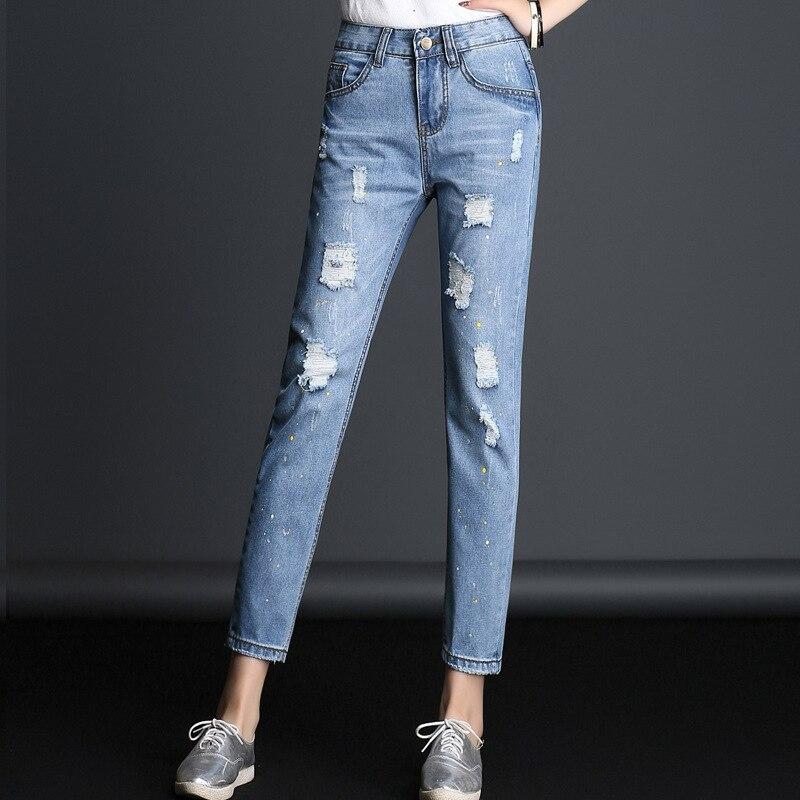 MÃE calças de Brim DAS MULHERES De Cintura Alta Jeans Skinny Plus Size 3XL Inverno Lápis Denim Calça Jeans de Algodão Calças slim para mulher 1TN001-012
