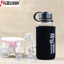 HADELI 1000ml And 700ml Large capacity water bottle with tea infuser Outdoor travel glass Lovers fashion gift Hot Sale