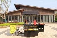 mobile pedal/electric cake tricycle beer kiosk food shop frying hot dog trike fruit coffee bike