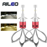 AILEO Car Headlight Bulbs H7 led h1 H4 H11 h8 h9 9005 9006 9012 9004 9007 9008 H13 4300K 6000K H7 auto XHP50 LED 60W 8000LM