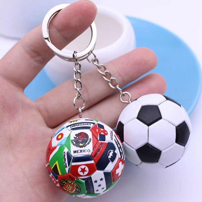 Football Fans Sports Souvenir Gift keychain Wholesale Factory Price Keyring For Men Boy Dropshipping