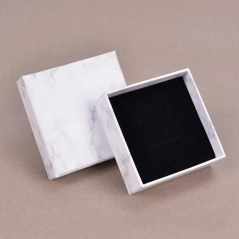 Marble Jewelry Box Set Necklace Bracelet Carton Packaging Box Creative Events Gifts Jewelry Storage Organizer