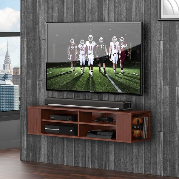 TV console wall mounted floating Wall Mount Media Console