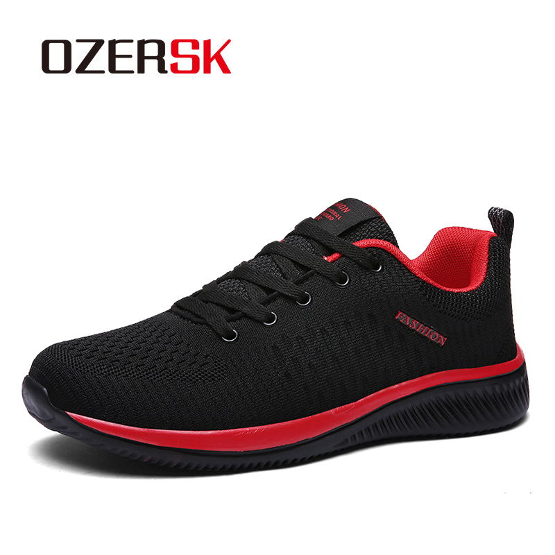 OZERSK Hot Sale Summer Lightweight Sneakers Fashion Famous Lace-up Style Men Shoes Comfortable Casual Style Men Sneaker Footwear