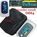 +Case/Bag PI ODI Sleep Measure Pulse Oximeter SPO2 PR Blood Oxygen Monitor Beep&Visual and Sound Alarm Solid Waveform