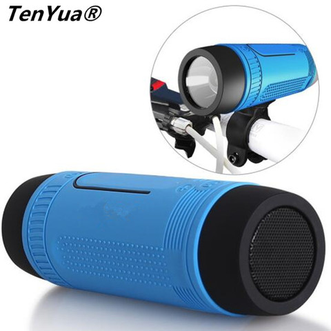 TenYua Bluetooth Speaker Outdoor Bicycle Portable Subwoofer Bass wireless Speakers Power Bank+LED light +Microphone+FM Radio Pakistan