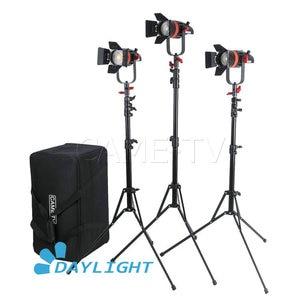 Image 1 - 3 Pcs CAME TV Boltzen 55 w Fresnel Fokussierbare LED Tageslicht Kit Mit Licht Steht