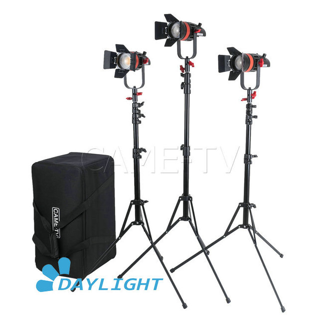 3 Pcs CAME TV Boltzen 55 w Fresnel Fokussierbare LED Tageslicht Kit Mit Licht Steht