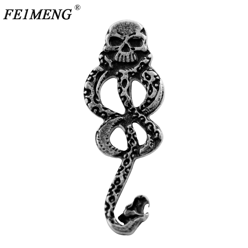 Slytherin Snake Brooch Classic Hogwarts Magic School Slytherin Badge Pin Brooches For Women And Men Fashion Jewelry Gifts