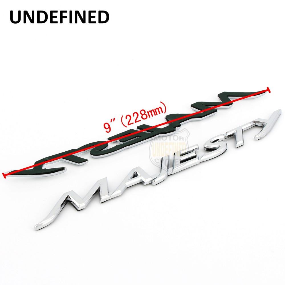 Неопределенные мотоциклы мопеды хром 3D ABS пластиковые эмблемы-наклейки значок наклейка подходит для Yamaha Majesty YP 125 250 400 Универсальный