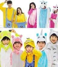 Totoro Pyjamas Onesies for kids lounge pajamas sleepwear Flannel panda Animal pajamas Mom and Dad baby parents Parents Clothes
