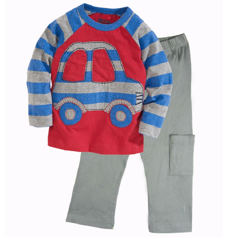 Taxi Baby Boys Clothes Suits 2 3 4 5 6 7 Year 100% Cotton Children Sport Suits Toddler Clothing Sets T-Shirts Pants Outfits