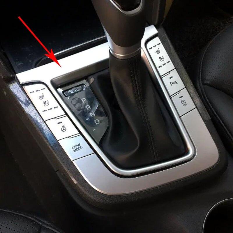 Bbincar Chrome Car Interior Center Control Consoles Gear Box Cover Trim Molding For Hyundai Elantra Avante 2016 2017 6th