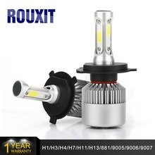 2Pcs H4 LED H7 H11 H1 H3 HB4 H8 HB3 H27 9005 9006 Auto Car Headlight 72W 8000LM High Low Beam Light Automobiles Lamp 6500K Bulb