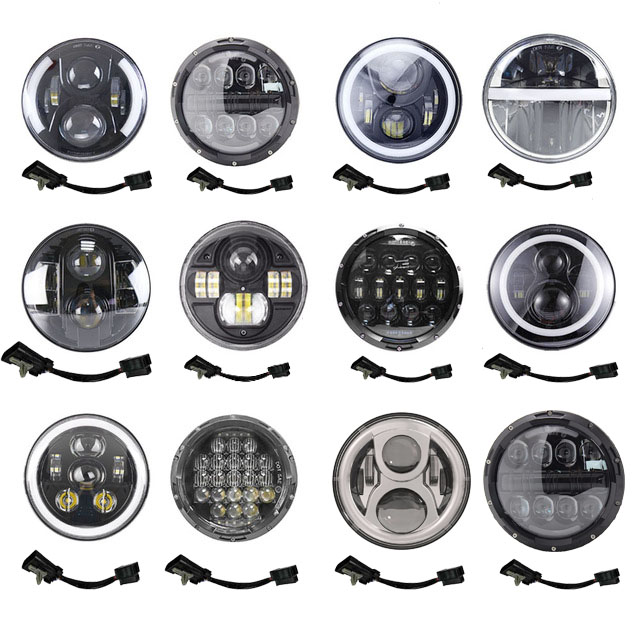 For Harley Davidson Motorcycle Tour Street Glide Road King Softail 7 Inch Harley Headlight LED Moto Halo DRL For Honda CB400