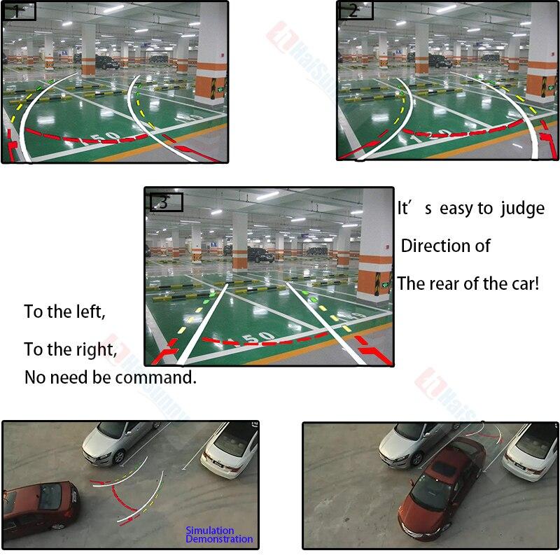 Интеллектуальная динамическая траектория треков камера заднего вида обратная резервная камера заднего вида авто реверсивная парковочная ...