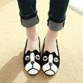 Мультфильм собака кошка женские туфли zapatos квартир женщин обувь alpargatas замши мокасины вскользь женщин одной обуви Комфорт беременная женщина