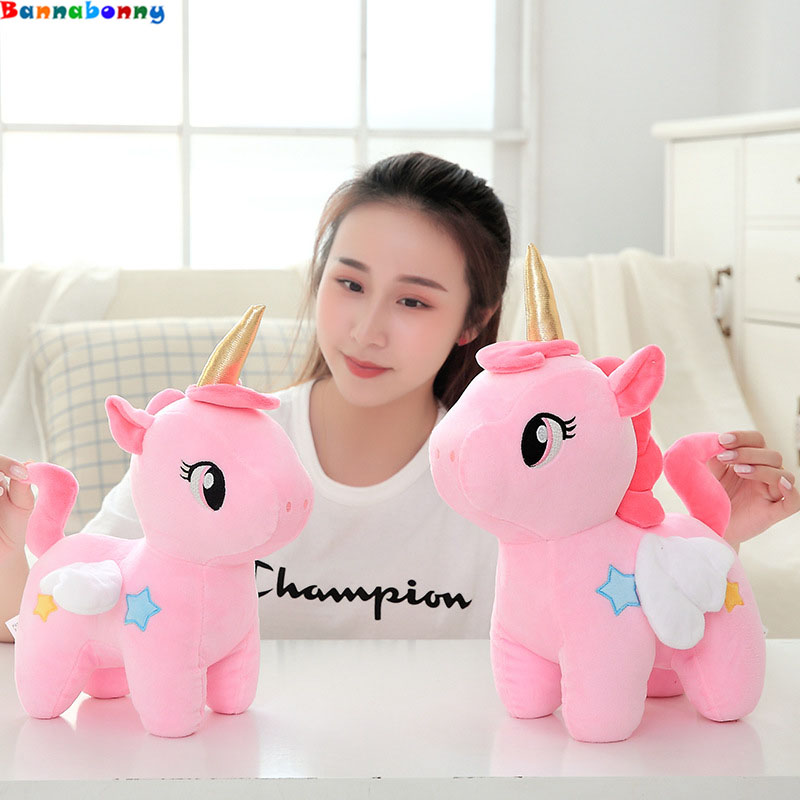 20cm High Quality Cute Unicorn Plush Toy Stuffed Unicornio Animal Dolls Soft Cartoon Toys for Children Girl Kids Birthday Gift nooer lovely unicorn plush dolls cute soft uncorn stuffed plush toy unicornio kids toy birthday christmas gift for kids child