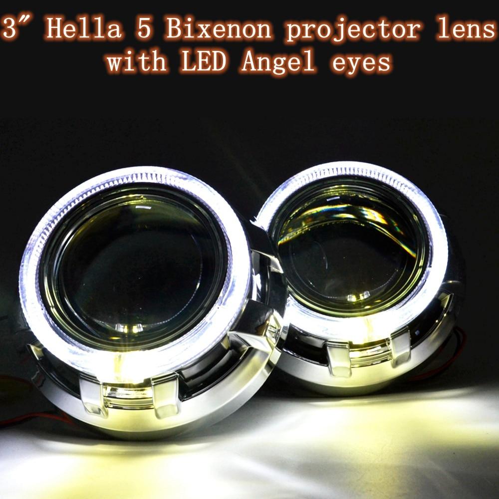 ФОТО Car styling Hella 5 Gen 5 3.0 inches bi-xenon hid projector lens angel eyes  D1S D2S D3S D4S LHD/RHD type